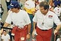 Com Ayrton Senna em1992