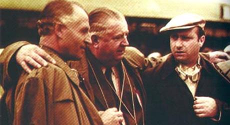Karl Kling, Alfred Neubauer, Juan Manuel Fangio,1955